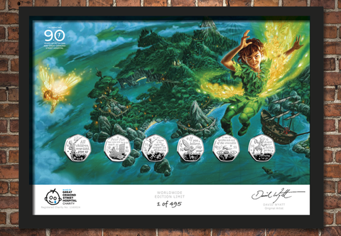 The Peter Pan 50p Framed Edition - Collectology