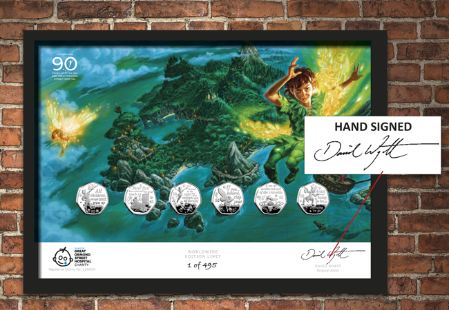 The Hand-Signed Peter Pan 50p Framed Edition - Collectology