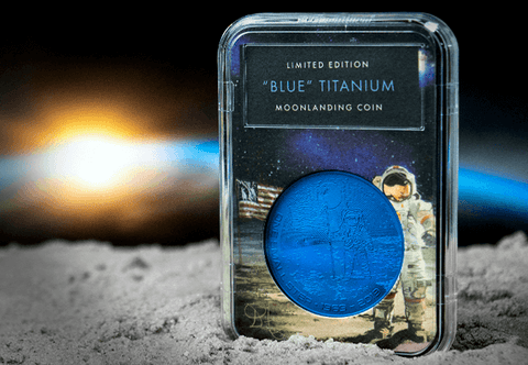 The Blue Titanium Moon landing Coin Capsule Edition - Collectology