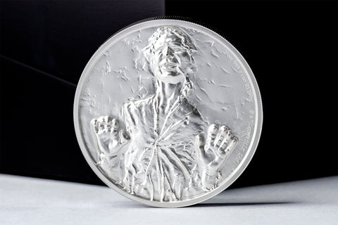 The STAR WARS Han Solo Ultra High Relief 2oz Silver Coin - Collectology