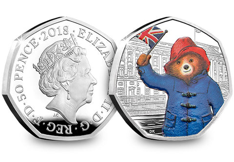 The UK 2018 Paddington at the Palace Silver Proof 50p Coin - Collectology