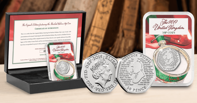 The Capsule Edition featuring the Sherlock Holmes 50p Coin - Collectology