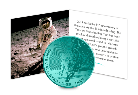 The Green Titanium Moon landing Coin Capsule Edition - Collectology