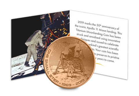 The Orange Titanium Moon landing Coin Capsule Edition - Collectology