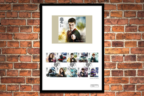 The Framed Edition featuring all 10 Harry Potter Stamps - Collectology