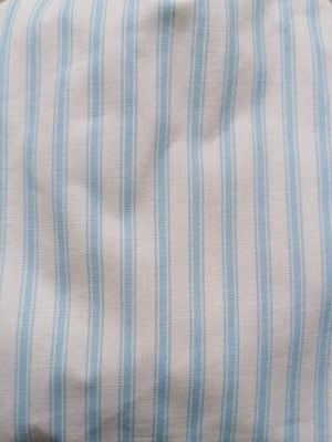 Striped blue/white cotton