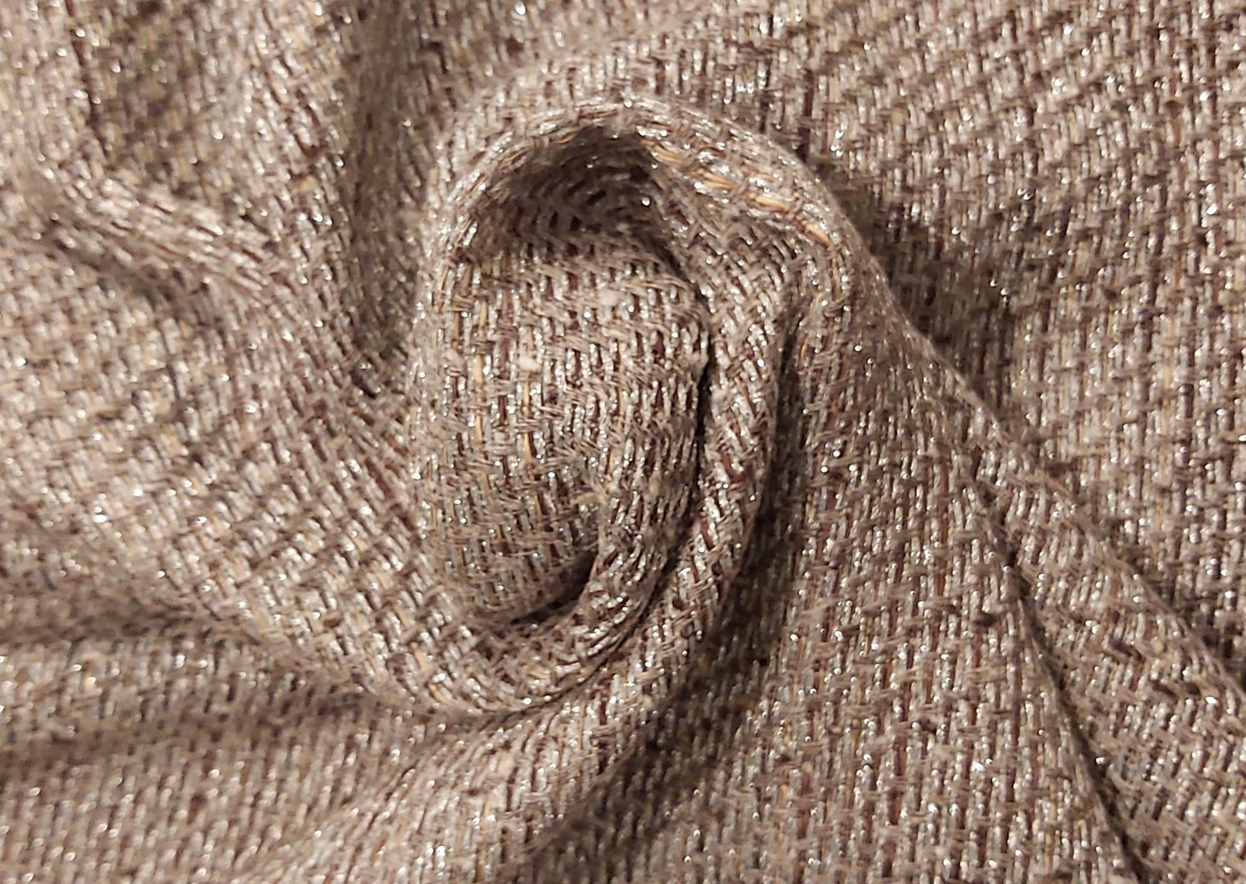 Silver and brown Linton tweed