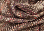 Bronze Linton tweed with rust, gold and pink highlights