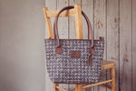 Spacious tweed shoulder bag by Horsley
