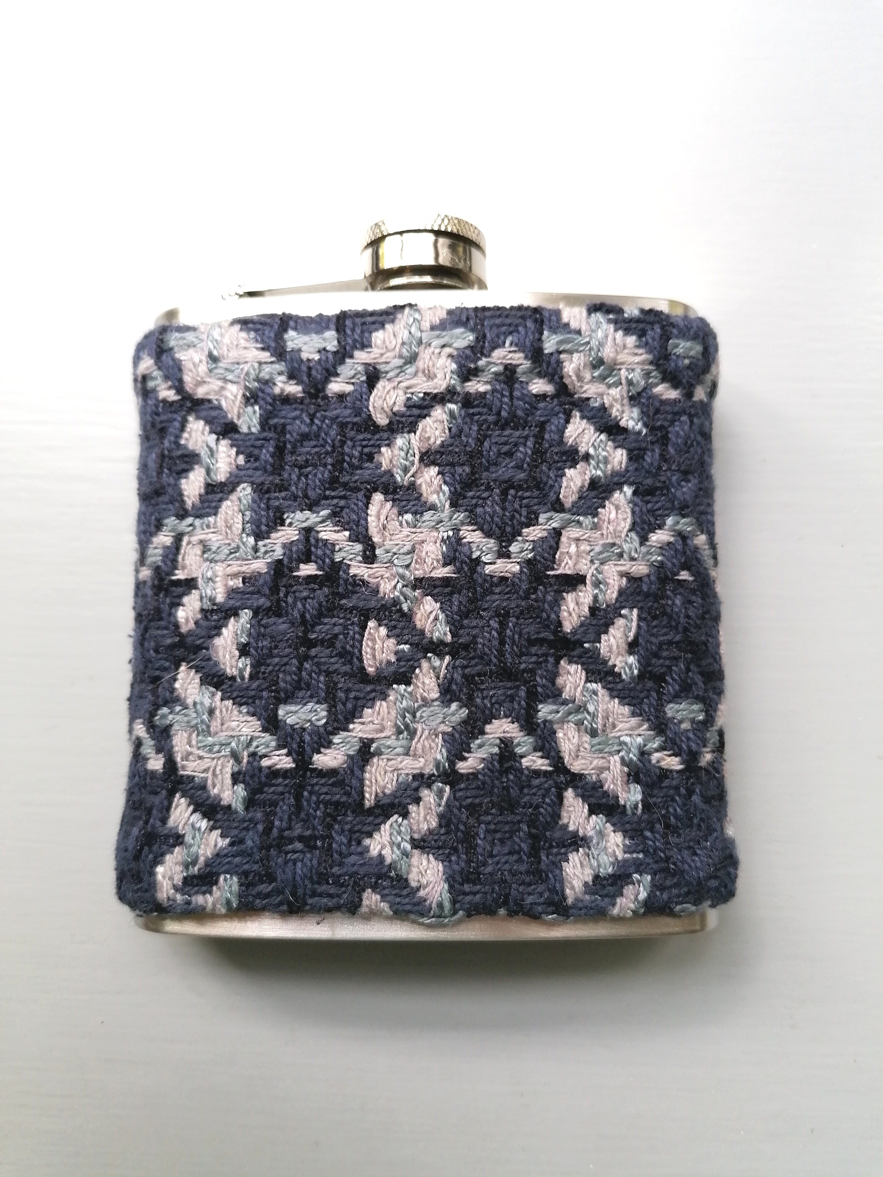 Tweed Hip Flask