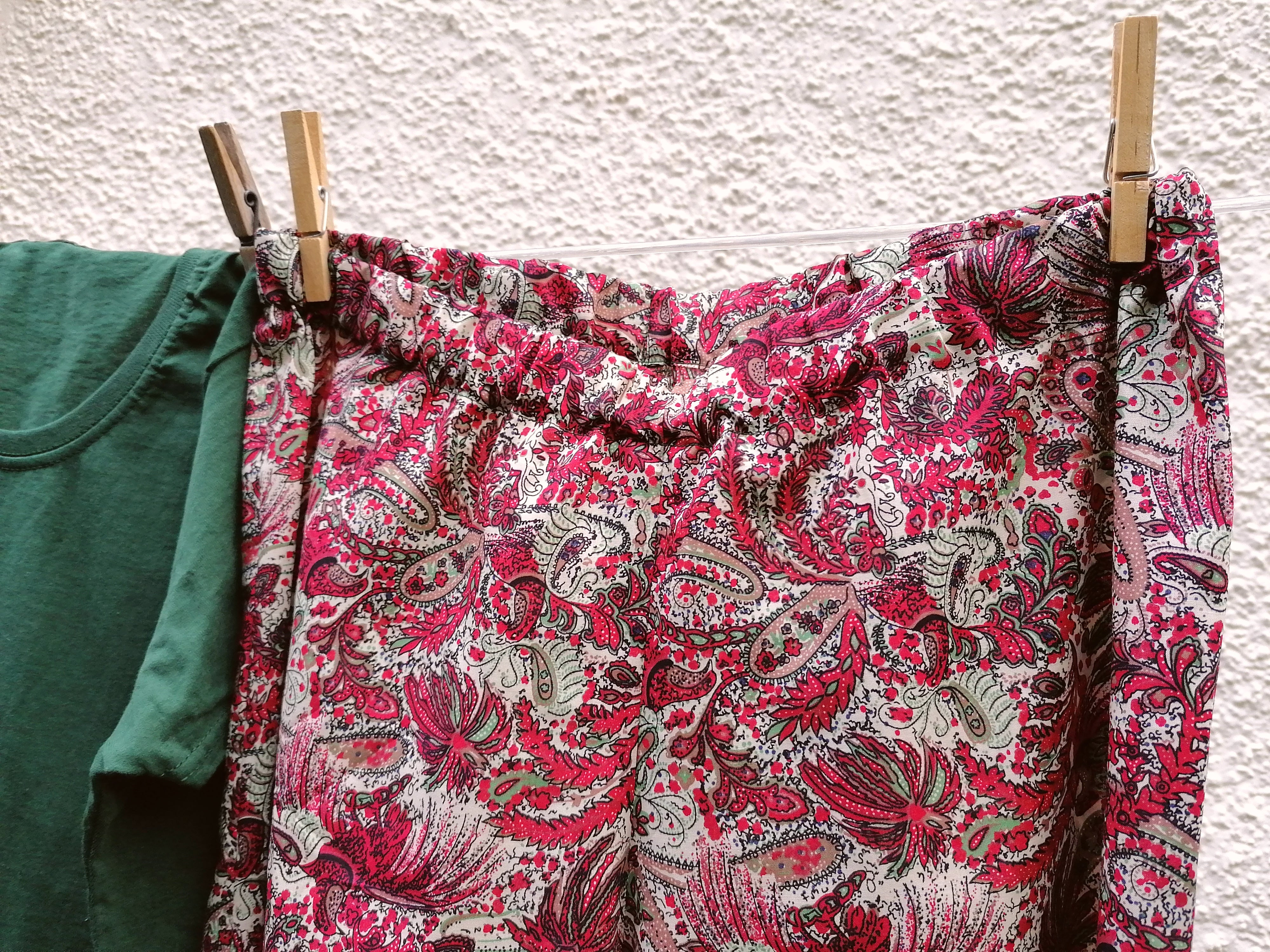 Red paisley cotton pyjamas