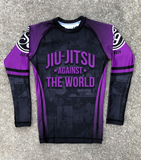 JIU JITSU AGAINST THE WORLD • Purple Belt Rash Guard