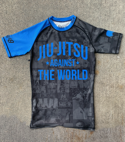 JIU JITSU AGAINST THE WORLD • Blue Belt Rash Guard