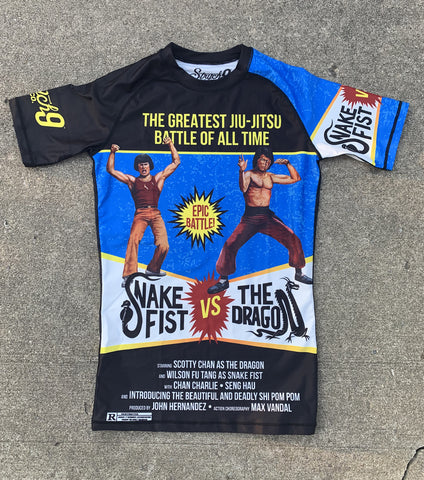 Snake Fist vs The Dragon Rash Guard