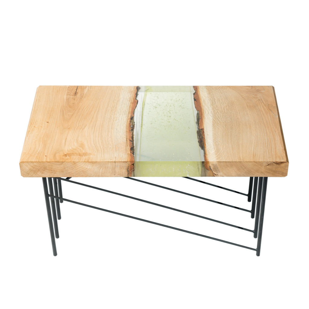 ... Handmade Small Coffee Table (Epoxy River Table) ...