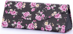 Brown Floral Sunglasses Case