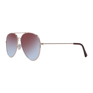 Profile view of Aguya Red Sunny Sunglasses