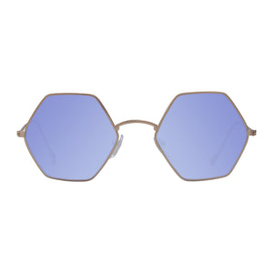 Blue lens woodstock shades