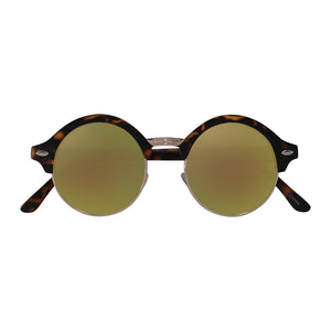 Gold Menta folded arms sunglasses