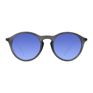 Robin Ruth grey carter sunglasses with blue lenses