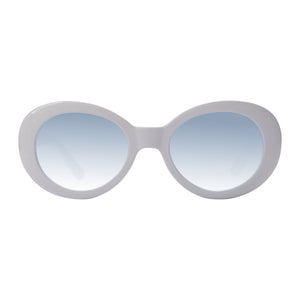 Eggshell savannah Sunglasses with bright blue lenses