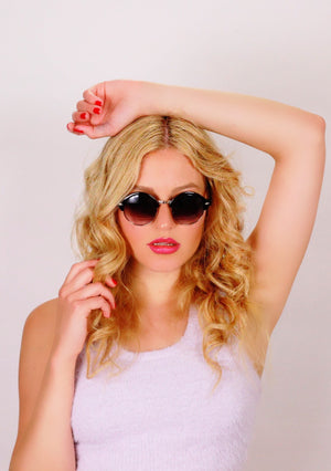 Blonde Hungarian women wears Menta Sunglasses