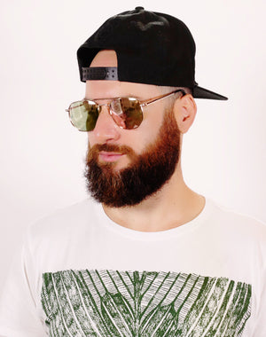 bearded Israeli man wearing brown princeton sun specs