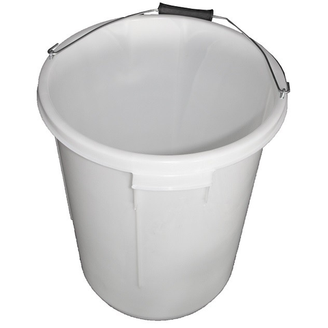 25L White Heavy Duty Mixing Bucket with Handle