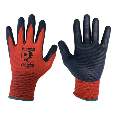 Nitrile Foam XL Ribbed Grip Gloves Pair