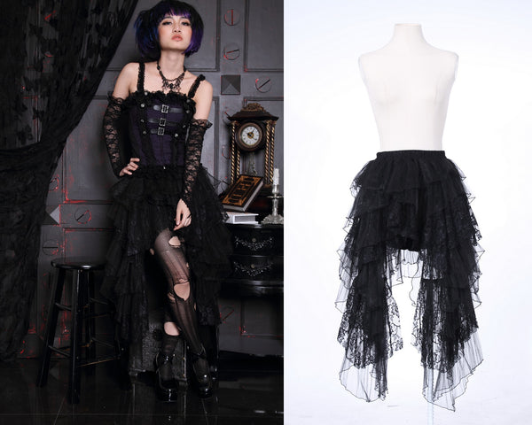 Prom Dresses for Women Fashion Accessories Steampunk Vintage Clothing Skirt