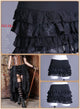 Steampunk Retro Victorian Punk Cincher Lace up Long Ruffle Mini Skirt