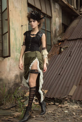 Steampunk Dress Victorian Skirt Womens Gothic Clothing Renaissance Pirate Costume