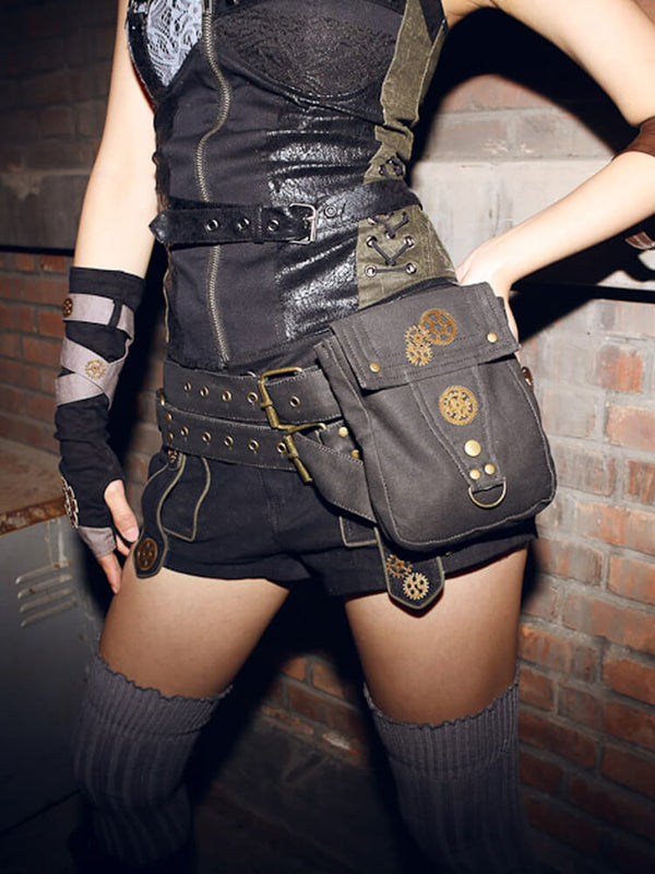 Cosplay Leg Bag Steampunk Accessories Steampunk Belt Motorcycle Backpack Fanny Packs For Women