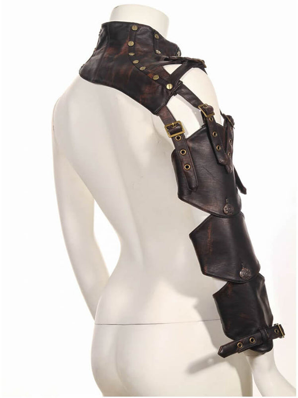 Womens Steampunk Costume Armor Shrugs For Women Steampunk Arm Warmer