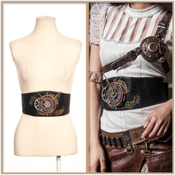 Steampunk Gear Utility Clock Waist Belt Women Accessories Cyberpunk Clothing