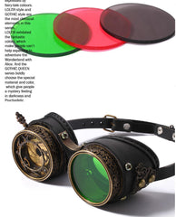 Steampunk Goggles Accessories Pirate Renaissance Victorian Gear Lens Spectacles