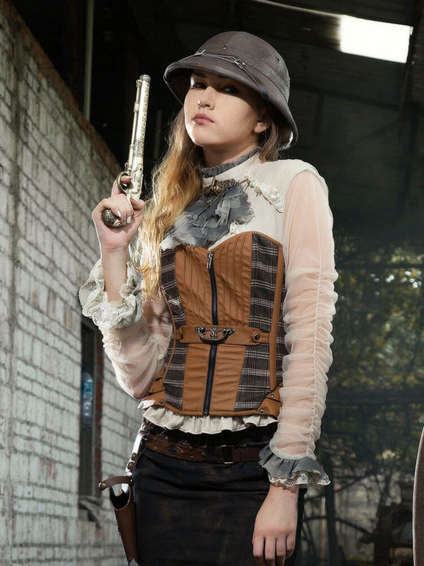 Lace Pirate Renaissance Steampunk Shirts For Women Victorian Steampunk Costume