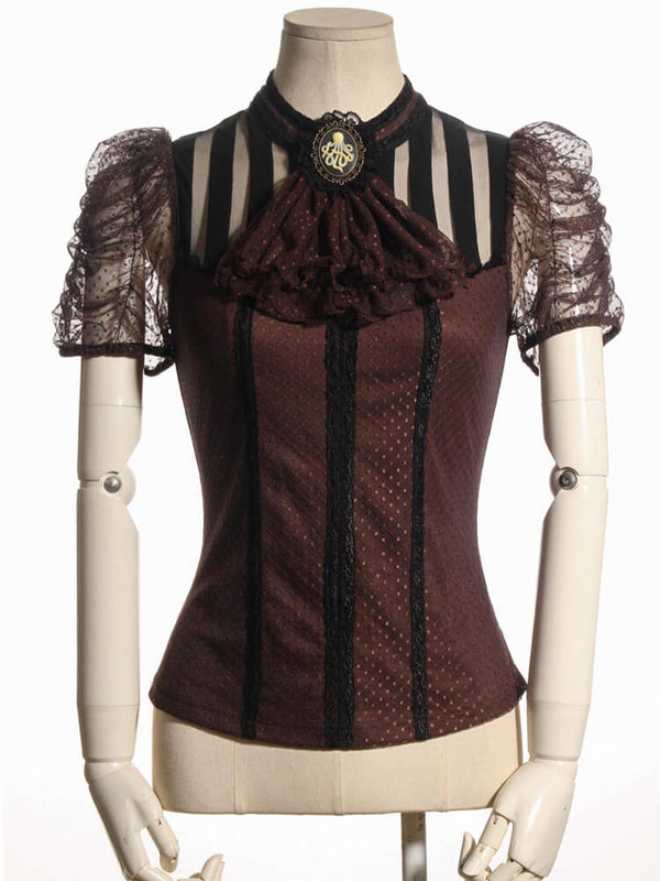 Pirate Renaissance Shirt Medieval Gothic Women Steampunk Costume Punk Clothing