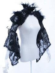 Pirate Renaissance Steampunk Clothing Women Black Lace Bolero