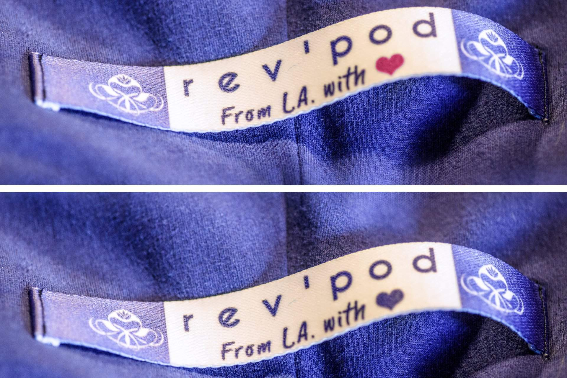 rev'pod™ | ultra-soft travel + loungewear | #revpod | Blue and Pink Hearts on Handle