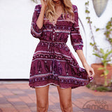 Rose Light & Colorful Printed Mini Dress