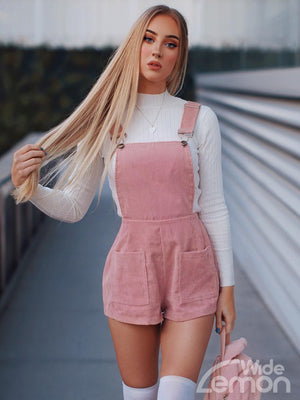 PINK Shorts Overalls