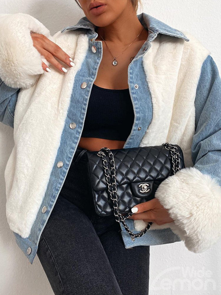 DENIM Plush Jacket