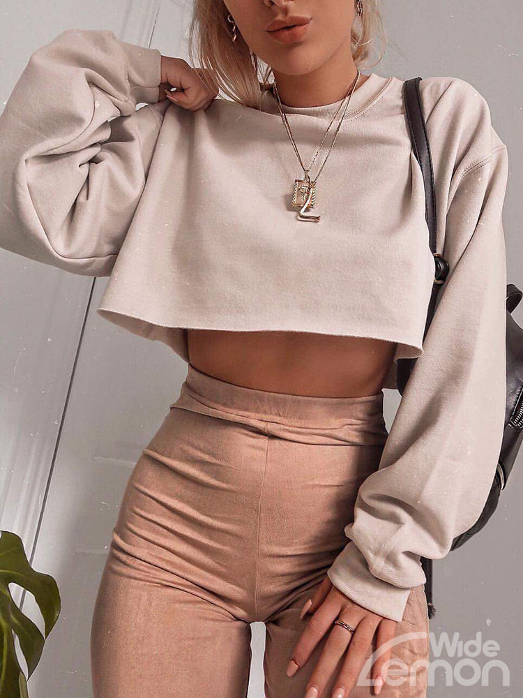 CREAM Crop Sweatshirt