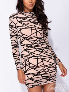 GEOMETRIC Skinny Dress