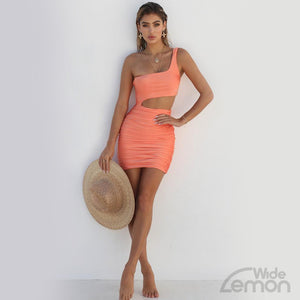 One Off Shoulder Short Dress