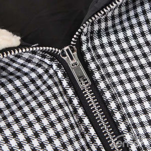 CHECKERED Hooded Parka