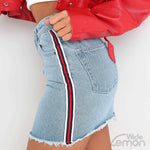 Side Stripe Mini Skirt