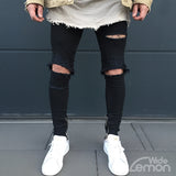 Black Ripped Skinny Jeans With Holes