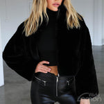 MAMBA Black Fur Coat